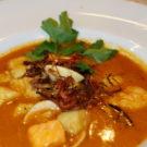 Bouillabaisse -Fischsuppe der provenzalischen Küche