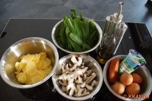 Zutaten zur Bärlauch Tortilla