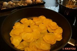 Kartoffeln in 3 El brauner Butter 10 Minuten braten