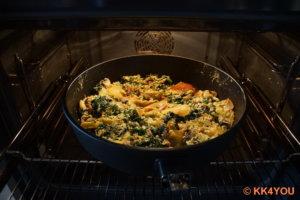 im Ofen bei 180 Grad 20 Minuten backen