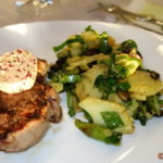 Kartoffelsalat mit Spargel und Bärlauch