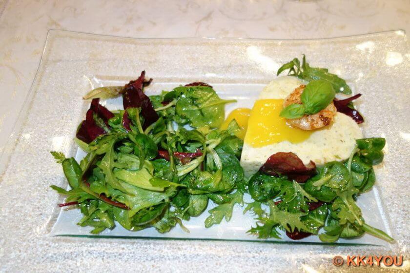 Fischmousse mit Mango