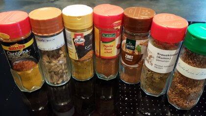 Zutaten der Curry Mischung