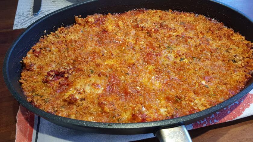 Blumenkohl überbacken mit Tomaten-Mozzarella