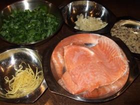 Zutaten für Lachs in Bärlauch-Zitronenbutter
