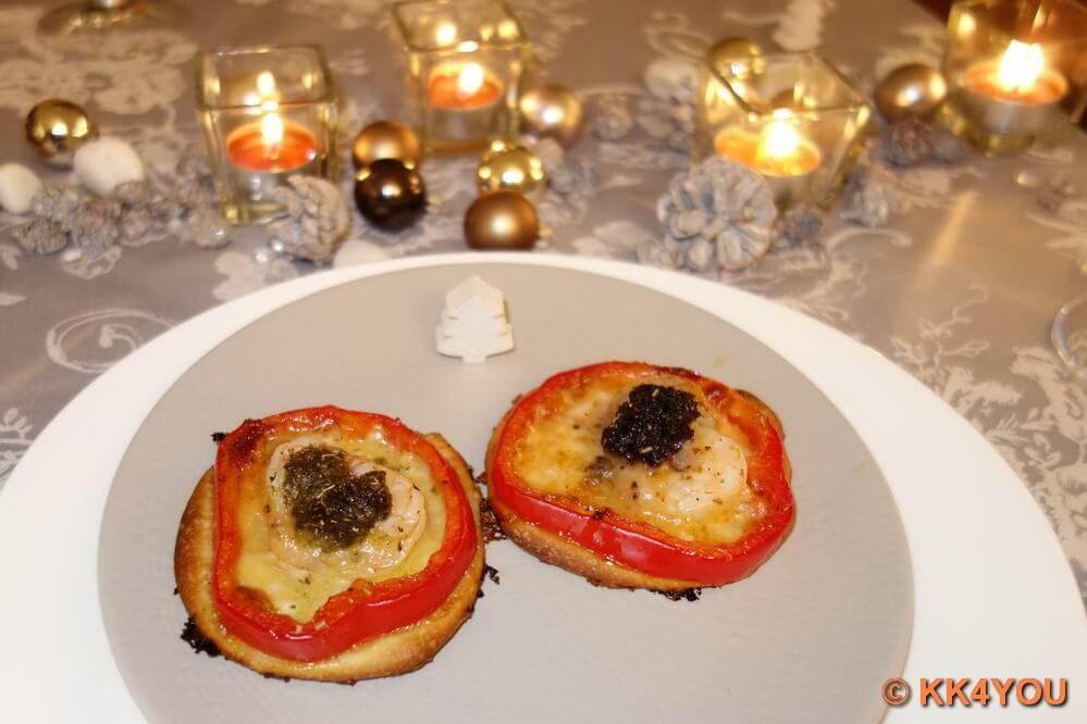 Mini Pizza mit Garnelen