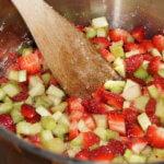 Erdbeer-Rhabarber Marmelade Klassisch und mit Orancio