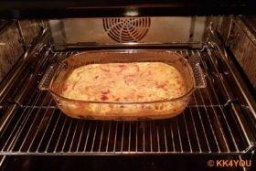 Schafskäse-Soufflé im Ofen