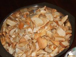 Pilze klein geschnitten