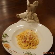 Spaghetti alla Carbonara -guten Appetit