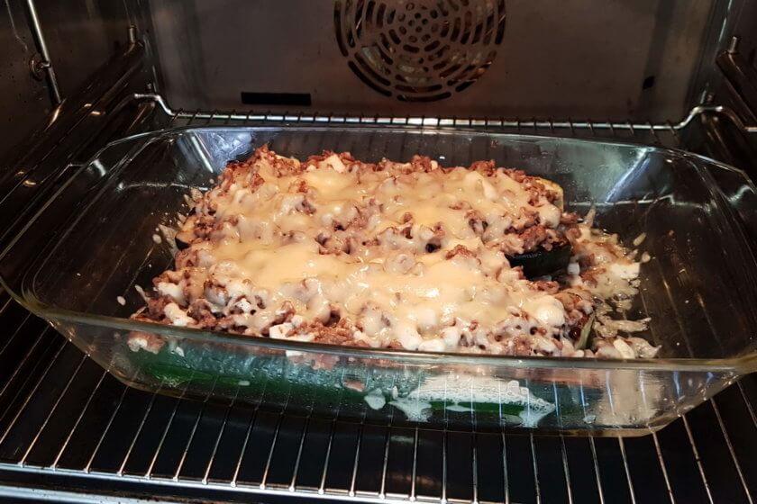 Überbackene Zucchini -Im Ofen goldraun backen
