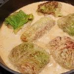 Wirsingrouladen mit Pilz-Couscous-Füllung